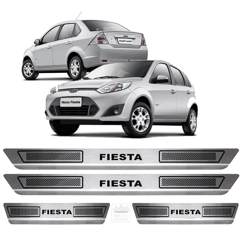 Soleira Aço Inox Ford Fiesta Rocam 2004 2005 2006 2007 2008