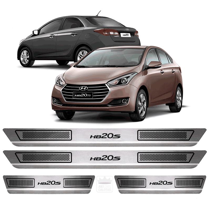 Soleira Aço Inox Hyundai Hb20S 2014 2015 2016 2017 2018 2019