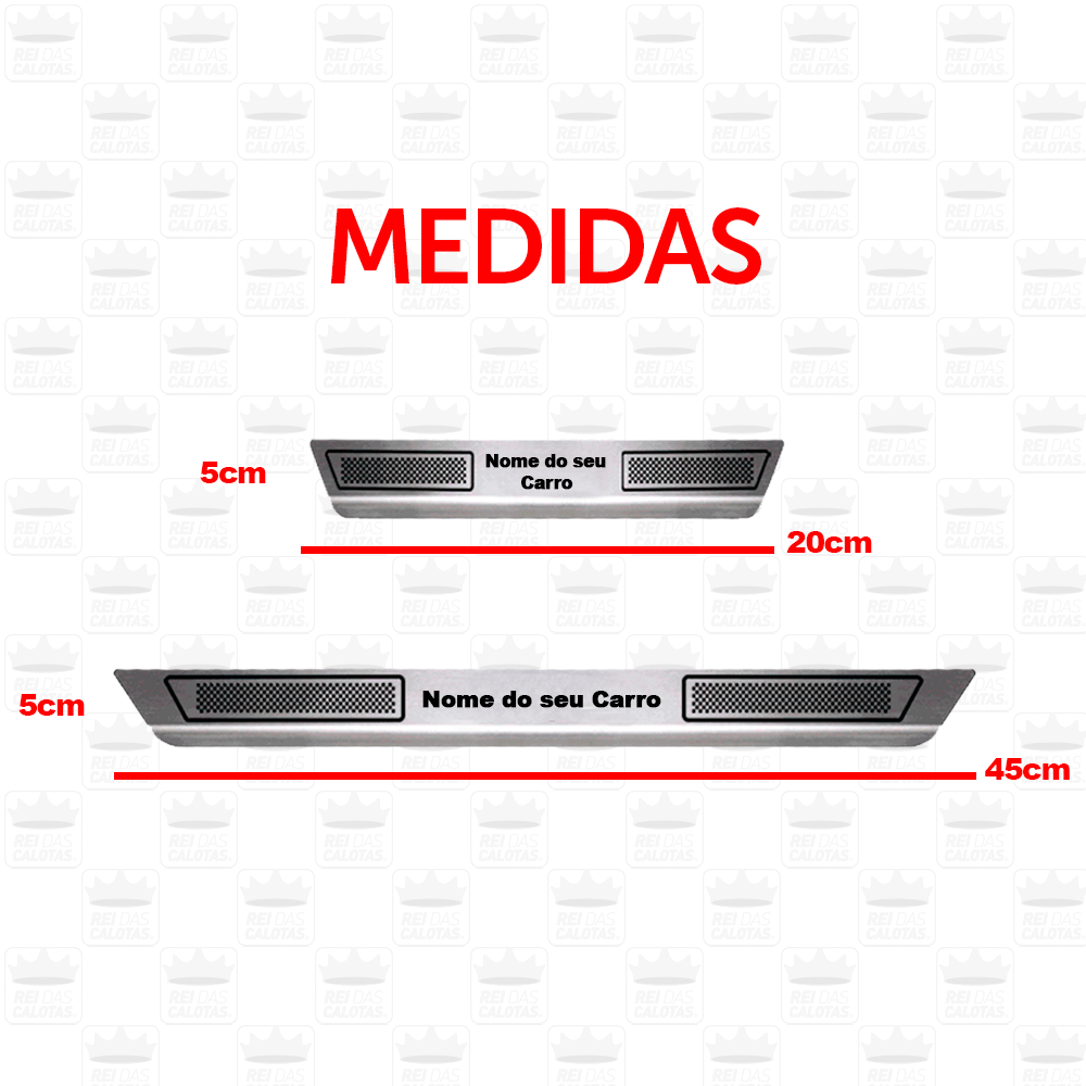 Soleira Aço Inox Hyundai Hb20X 2014 2015 2016 2017 2018 2019