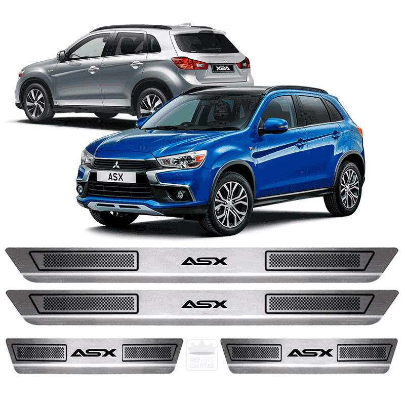 Soleira Aço Inox Mitsubishi Asx 2015 2016 2017 2018 2019