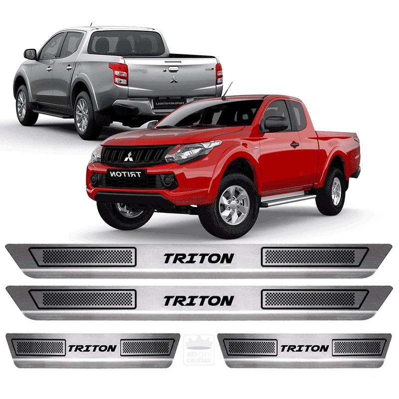 Soleira Aço Inox Mitsubishi Triton 2015 2016 2017 2018 2019