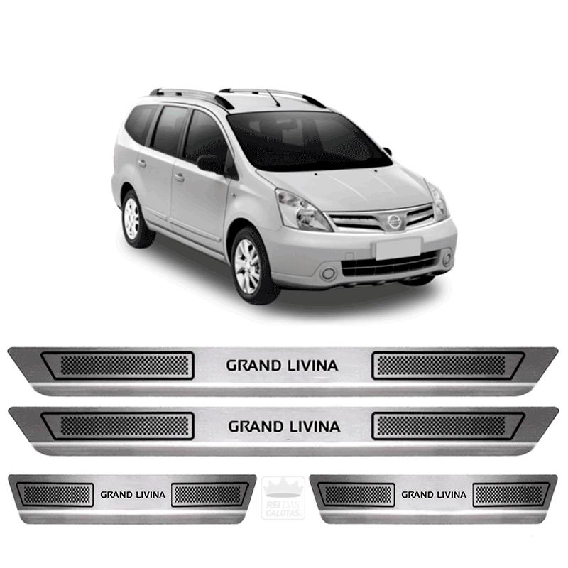 Soleira Aço Inox Nissan Grand Livinia 2011 2012 2013 2014
