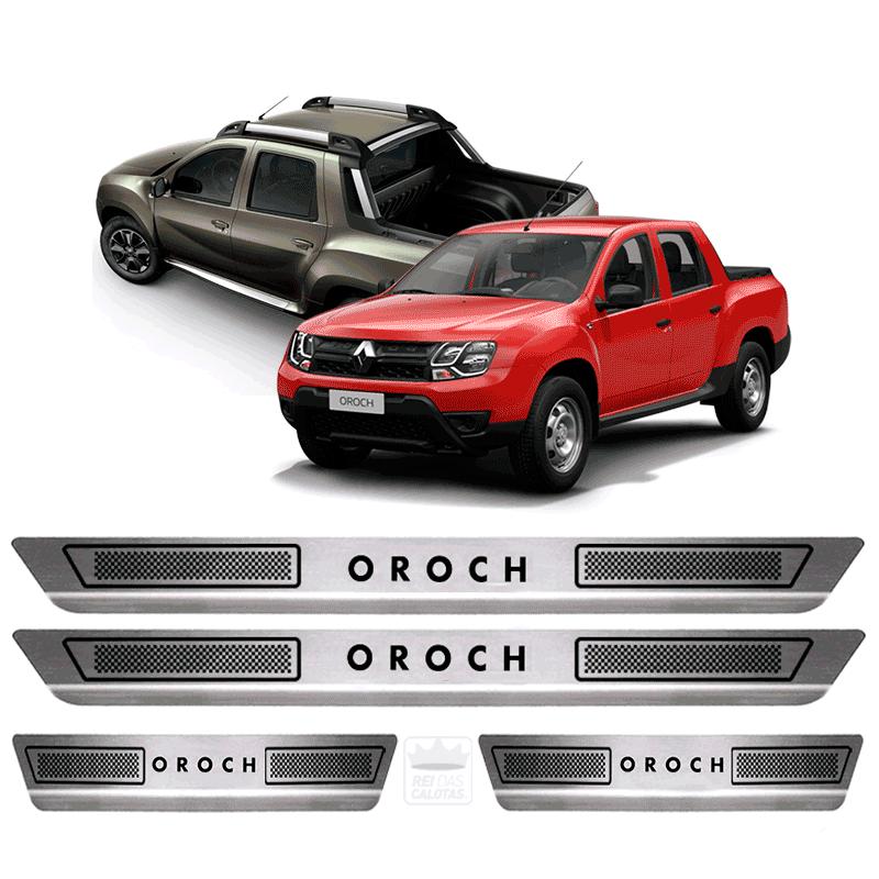 Soleira Aço Inox Renault Oroch 2015 2016 2017 2018 2019
