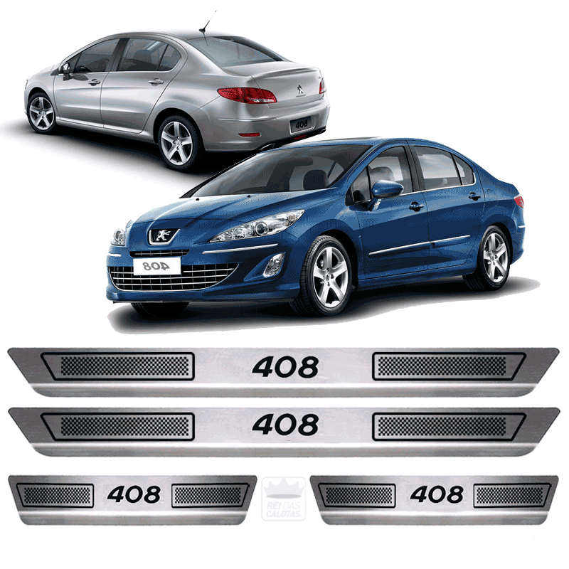 Soleira Aço Inox Peugeot 408 2014 2015 2016 2017 2018 2019