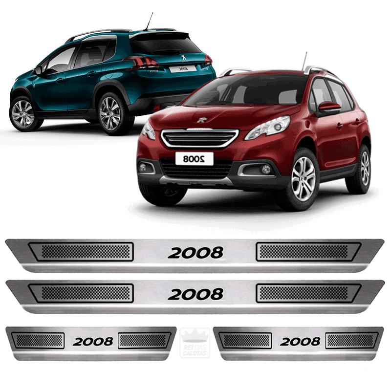 Soleira Aço Inox Peugeot Modelo 2008 Ano 2017 2018 2019