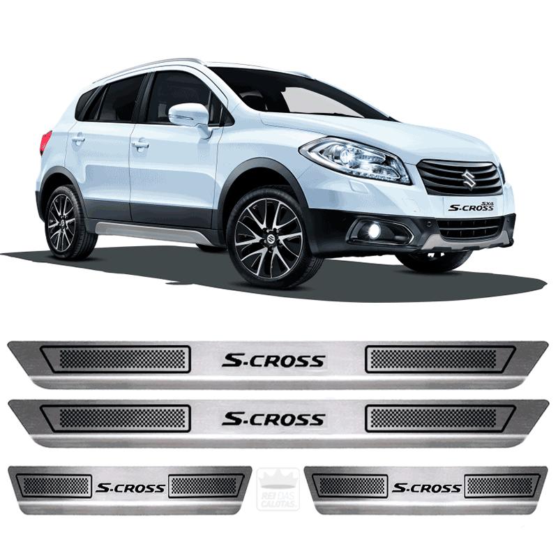 Soleira Aço Inox Suzuki S Cross 2016 2017 2018 2019