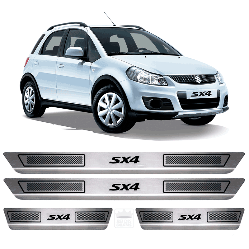 Soleira Aço Inox Suzuki Sx4 2014 2015 2016 2017 2018 2019