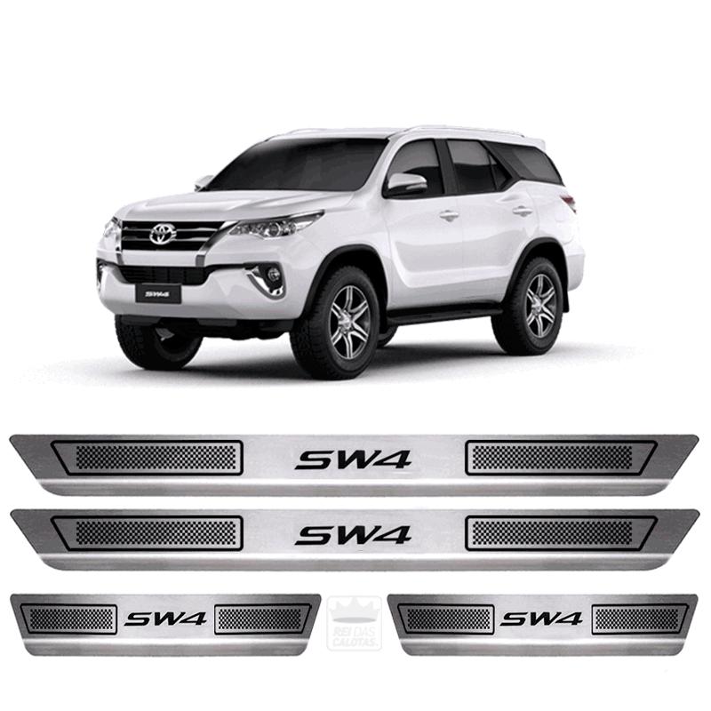 Soleira Aço Inox Toyota Sw4 Sr Tdi Srv 2017 2018 2019