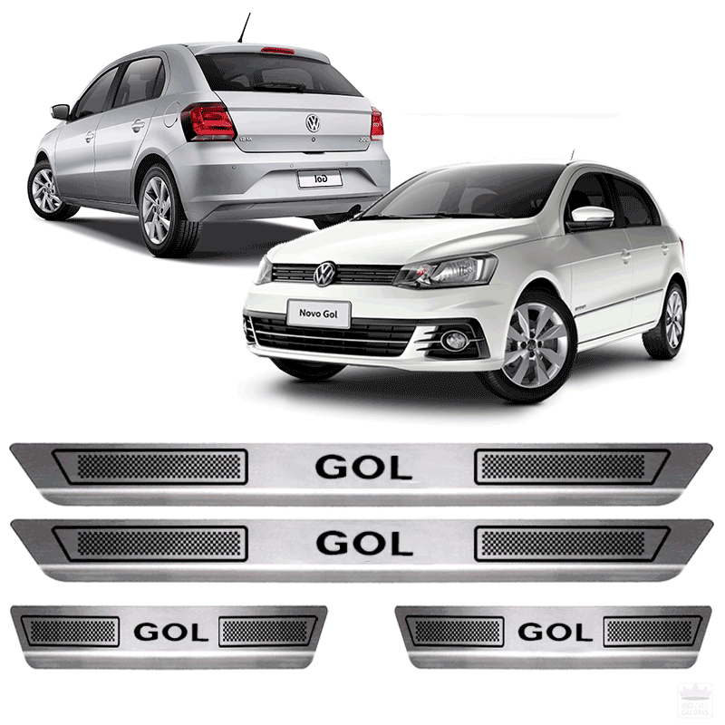 Soleira Aço Inox Volkswagen Novo Gol G3 G4 G5 G6 G7