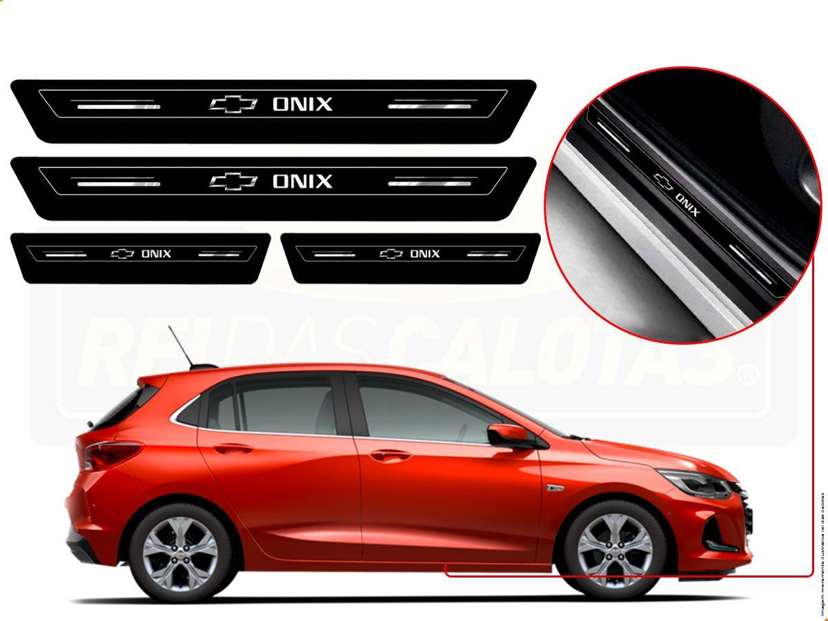 Soleira Platinum Resinada Chevrolet Onix Hatch Nova Geração