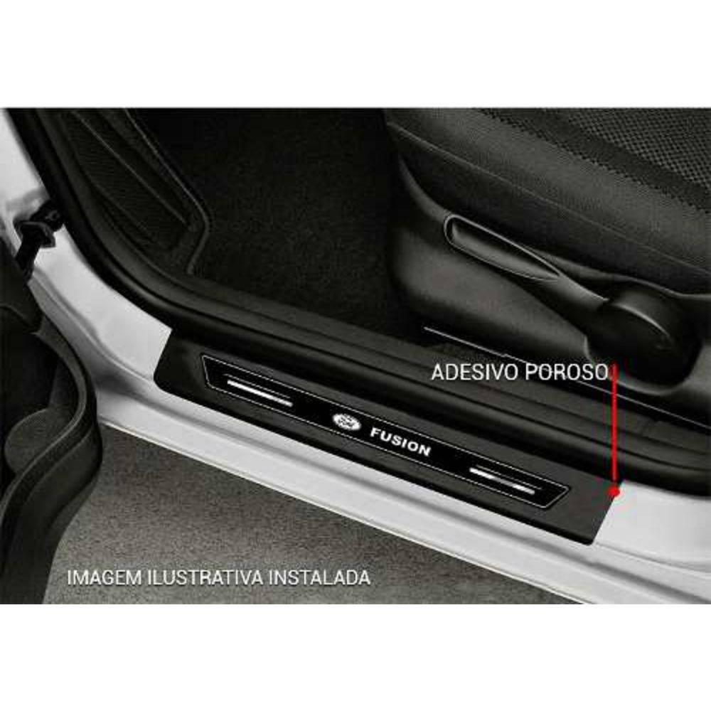 Soleira Platinum Resinada Emblema Tec Ford Fusion