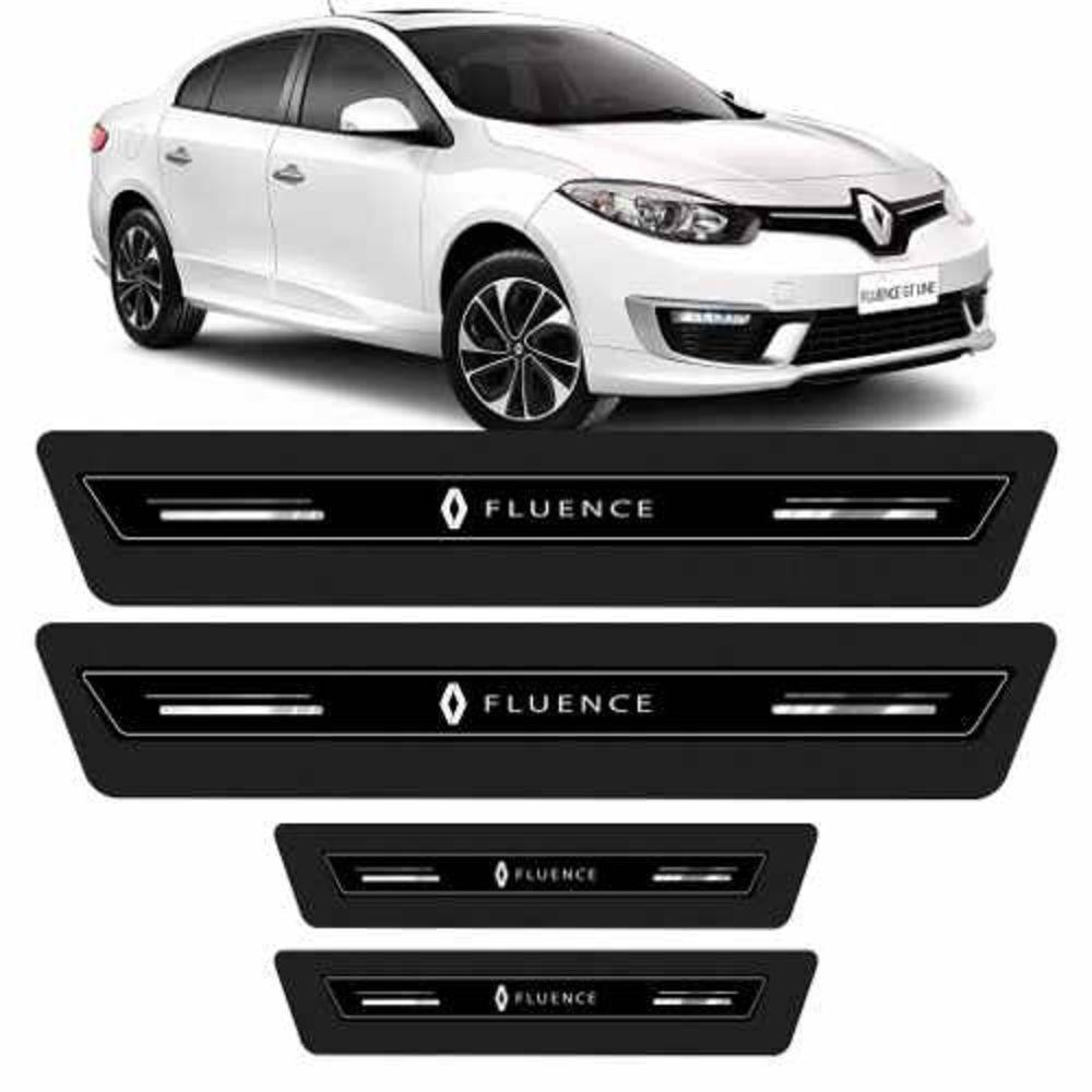 Soleira Platinum Resinada Emblema Tec Renault Fluence