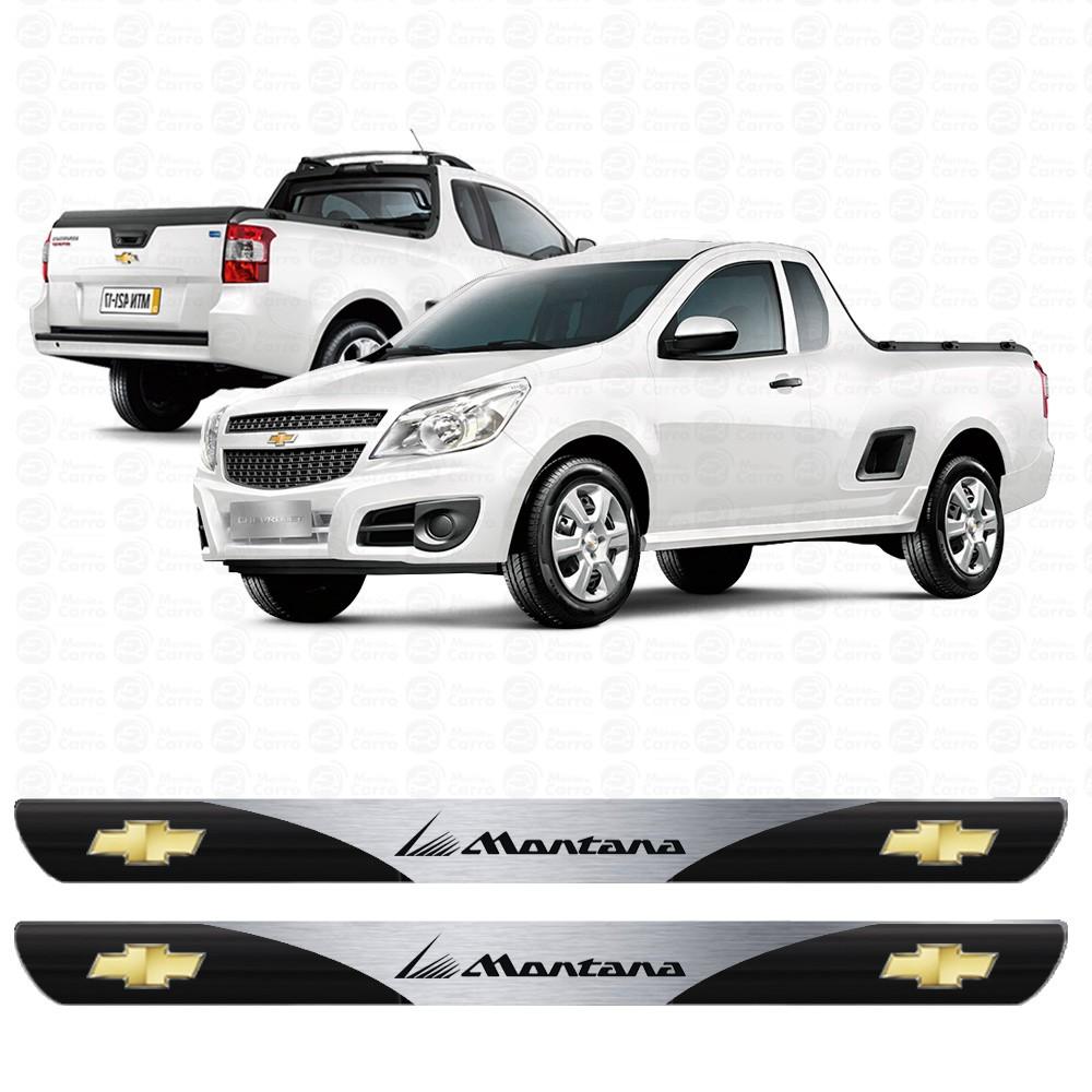 Soleira Resinada Personalizada Para Chevrolet Montana