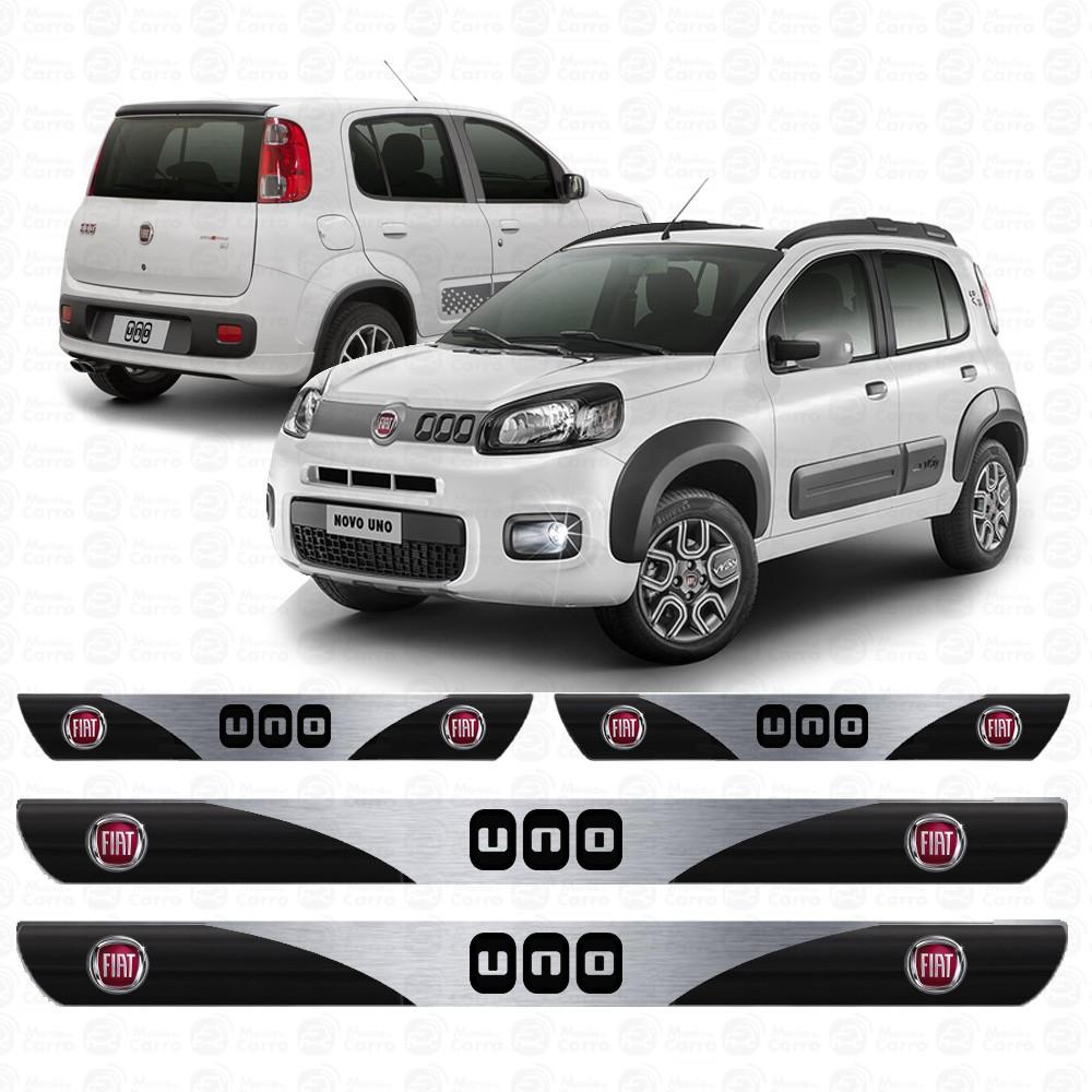Soleira Resinada Personalizada para Fiat Novo Uno