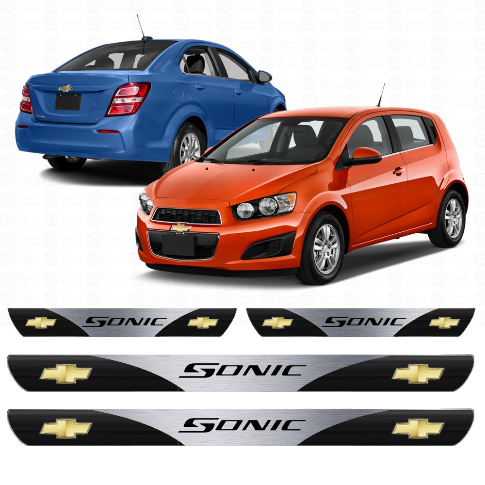 Soleira Resinada Personalizada Para Gm Chevrolet Sonic