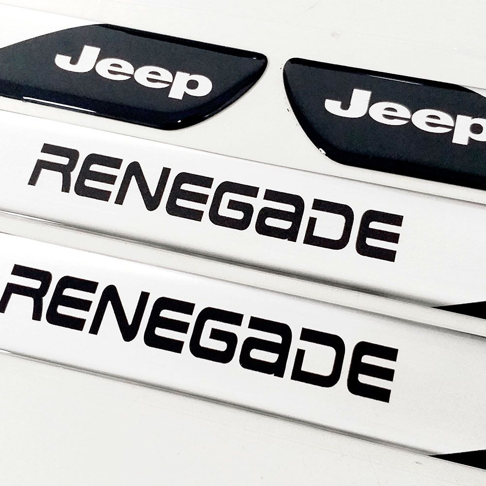 Soleira Resinada Personalizada para Jeep Renegade