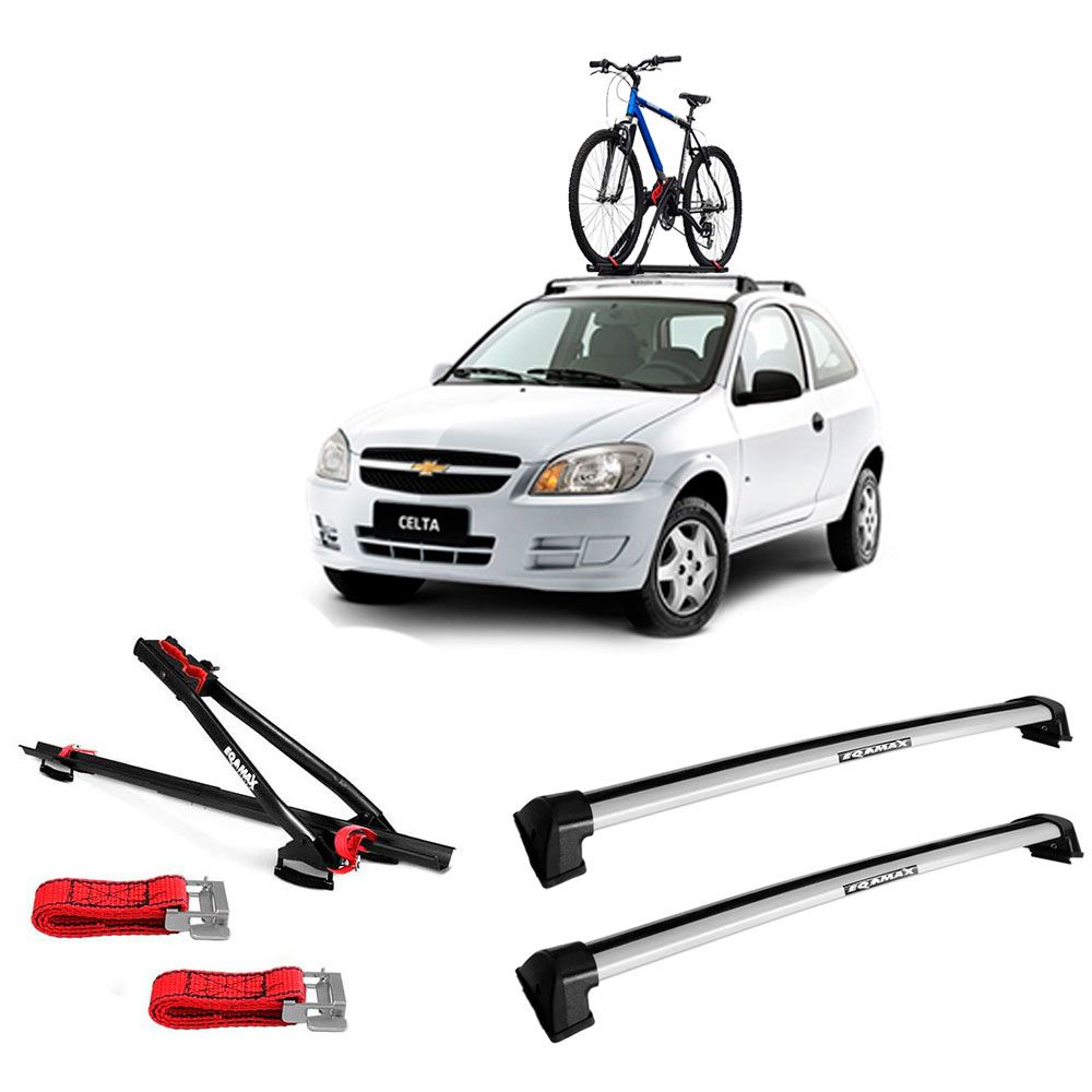 Suporte Para Bicicleta + Rack De Teto New Wave Chevrolet Celta Santo Andre - ABC - SP