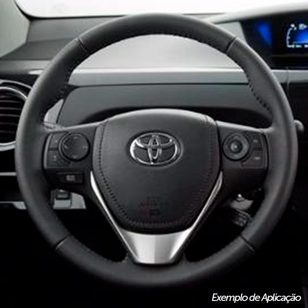 Tampa de Volante Capa Airbag Toyota Corolla Etios Hatch Sedan 2014 a 2015