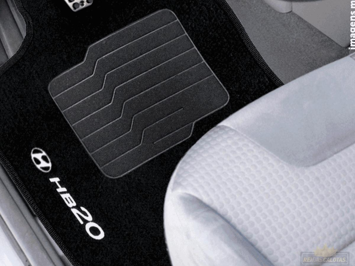 Tapete Carpete Bordado Hyndai Hb20 Hatch Nova Geração 2020