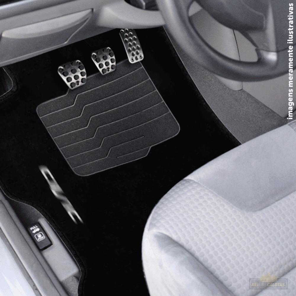 Tapete Carpete Premium 3 Peças Preto Honda Civic 2017 A 2020