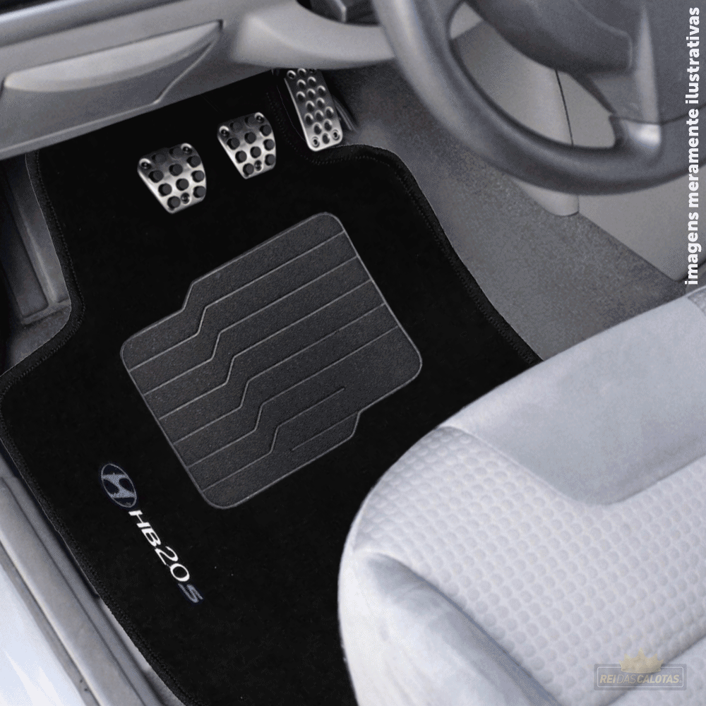 Tapete Carpete Premium 5 Peças Preto Hyundai Hb20S 2014 A 2020