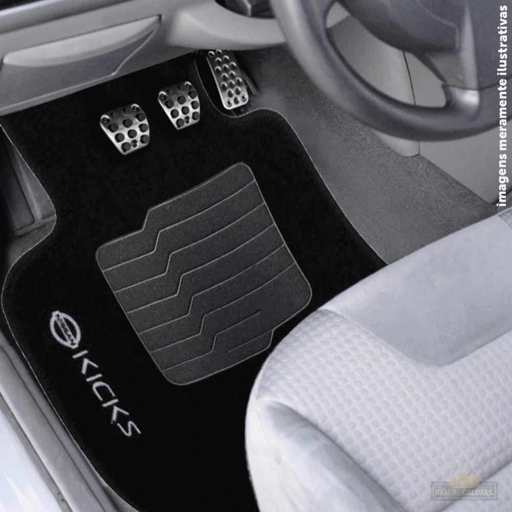 Tapete Carpete Premium 5 Peças Preto Nissan Kicks 2016 A 2020