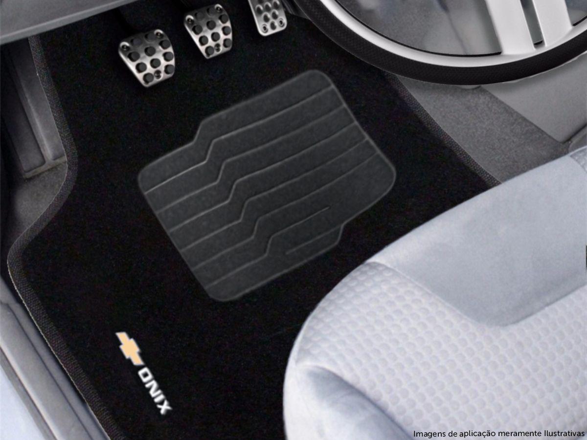 Tapete Carpete Premium 5 Peças Preto Gm Onix Hatch Nova Geração 2020 2021