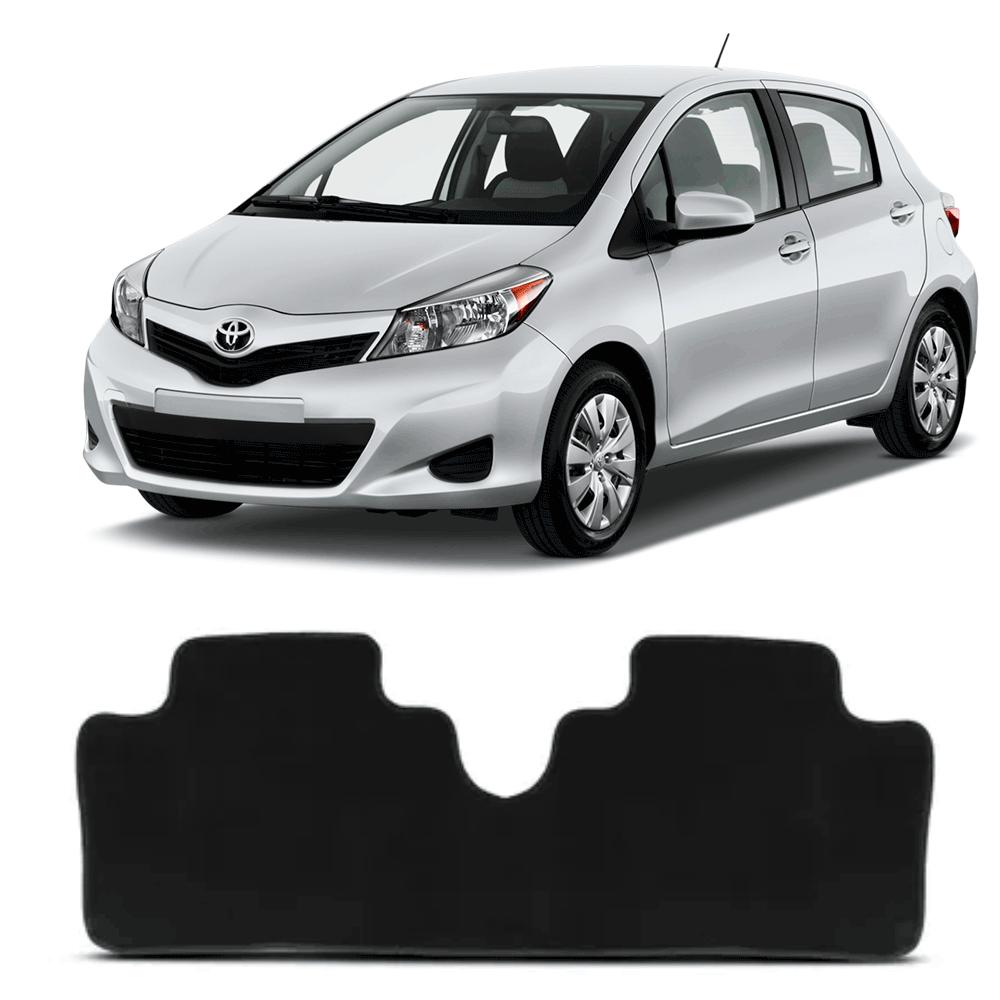 Tapete Carpete Traseiro Premium 1 Peça Preto Toyota Yaris