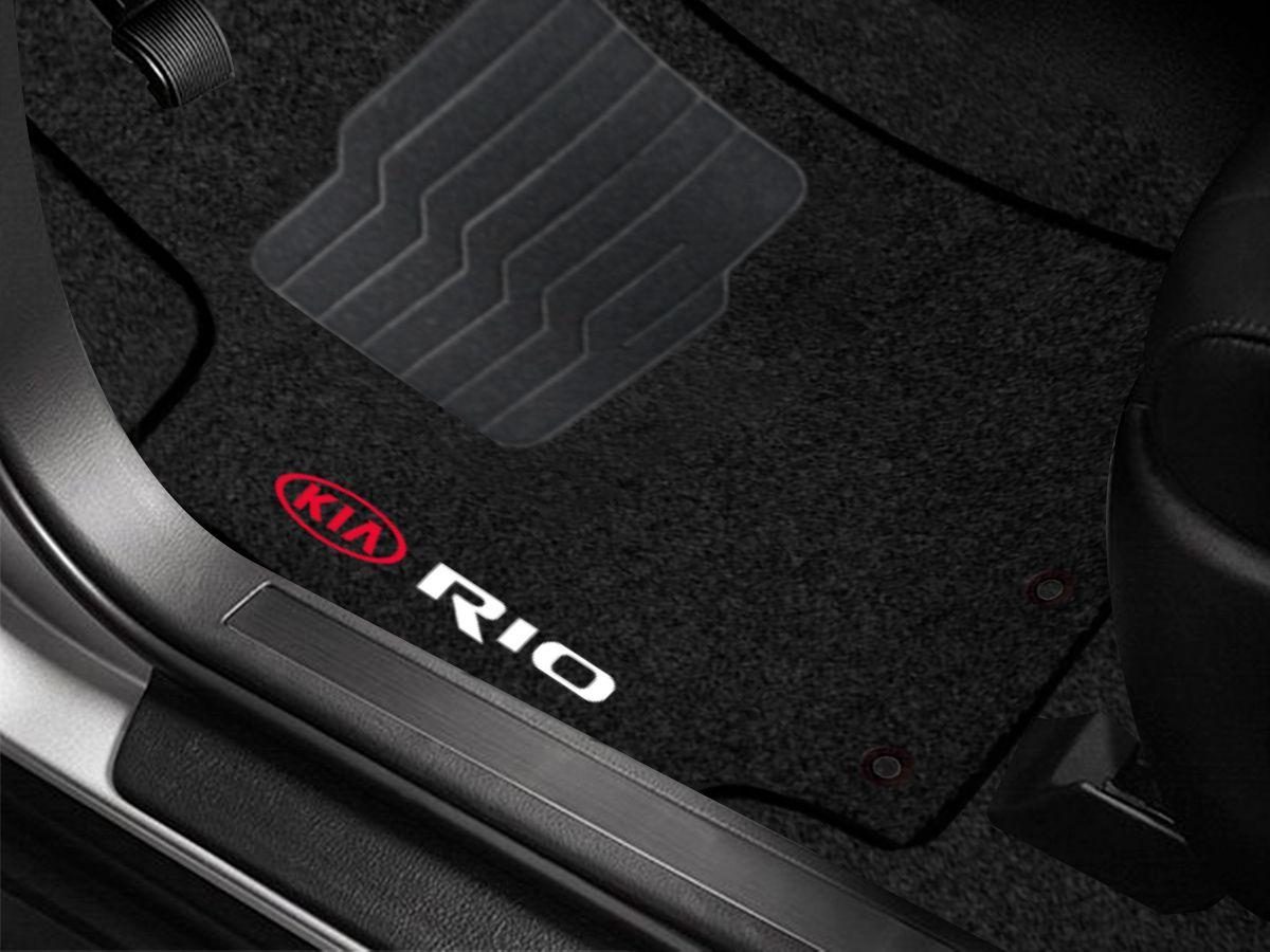 Tapete Carpete Premium Preto Kia Rio 2020