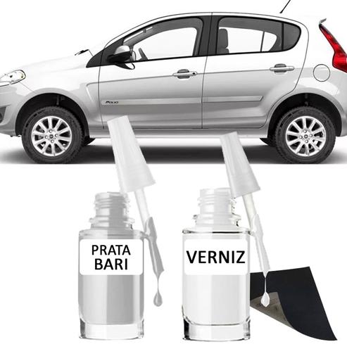 Tinta Tira Risco Automotivo para toda a linha Fiat Prata Bari