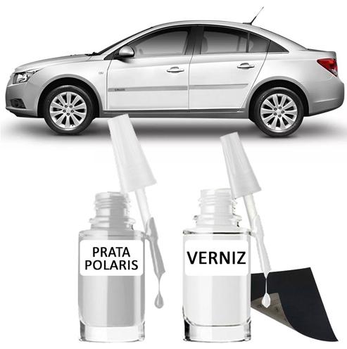 Tinta Tira Risco Automotivo para toda a linha GM Prata Polaris
