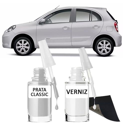 Tinta Tira Risco Automotivo para toda a linha Nissan Prata Classic
