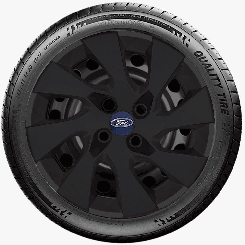 Calota Preto Fosco Aro 14 Ford Fiesta Ka  G133Pf