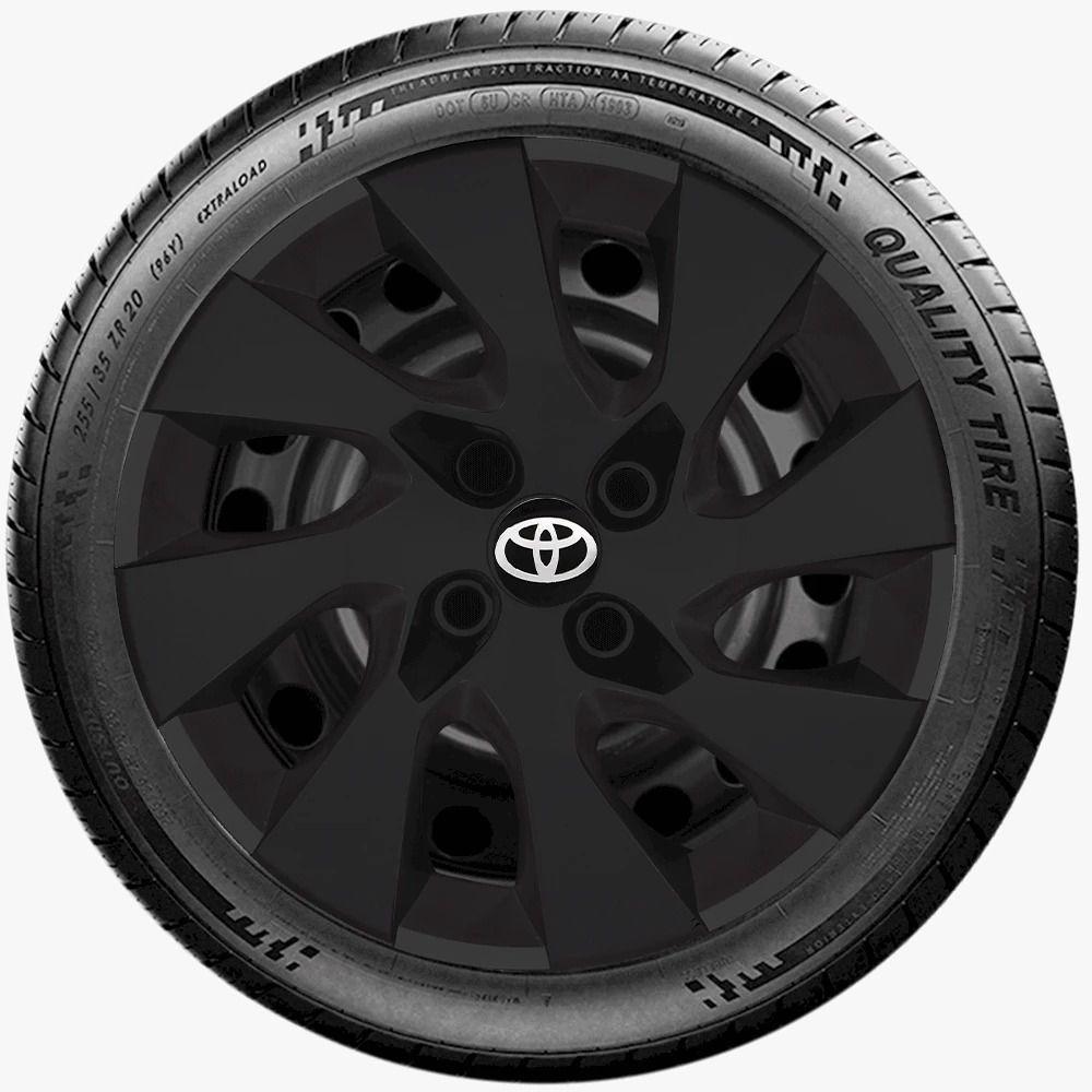 Calota Preto Fosco Aro 14 Toyota Etios 2013 A 2019 G133Pf