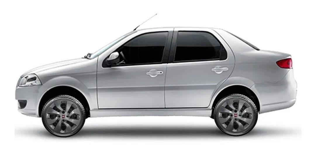 Calota Grafite Aro 14 Fiat Palio Siena Ino Fire Punto Idea G373Gft