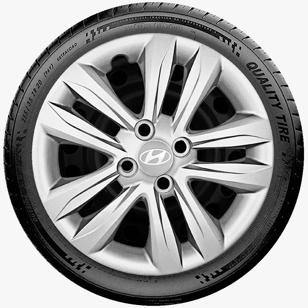 Calota Aro 15 Hyundai Prata Novo Hb20 Hb20S G192