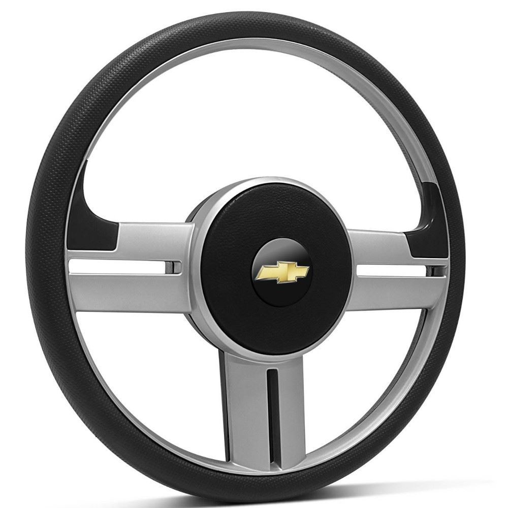 Volante Esportivo Chevrolet Rallye Prata + Cubo para Corsa, Celta, Astra, Kadett e outros - Santo André - SP