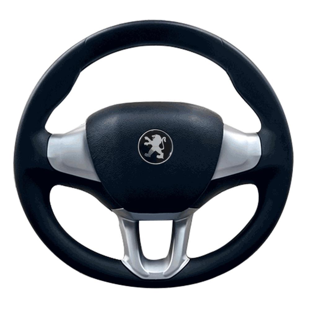 volante sportivo peugeot 206 207 prata com preto