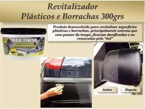 WAX FINISH REVITALIZADOR DE PLASTICOS E BORRACHAS PEROLA 300G