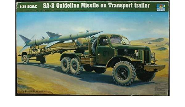 1/35 - SA-2 Guideline Missile on Transport Trailer - Trumpeter - Ricelomshop