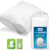 Capa Protetora de Travesseiro Impermeável Trisoft Percal 200 Fios 100% Algodão Egípcio Branca