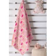 Cobertor de Bebê Plush Baby 85cm x 1,10m Estampado Princesa Hedrons