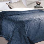 Cobertor Queen Soft Flannel 2,40 x 2,20 Rozac Vermont Sherpa Azul