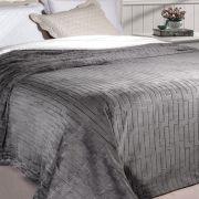Cobertor Queen Soft Flannel 2,40 x 2,20 Rozac Vermont Sherpa Cinza