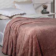 Cobertor Queen Soft Flannel 2,40 x 2,20 Rozac Vermont Sherpa Rosê