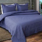 Colcha de Casal Provence Rozac 3 peças Matelassê Azul 3
