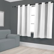 Cortina para Quarto Branca com Blackout Corta Luz PVC 2,40m X 1,60m Lava Fácil Marka Têxtil