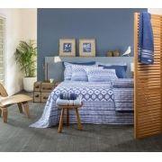 Jogo de Cama Queen Santista Home Design 4 Peças Akemi Azul