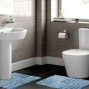 Jogo de Tapete para Banheiro 2 Peças 100% Algodão Murano Rozac Azul