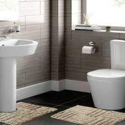 Jogo de Tapete para Banheiro 2 Peças 100% Algodão Murano Rozac Bege
